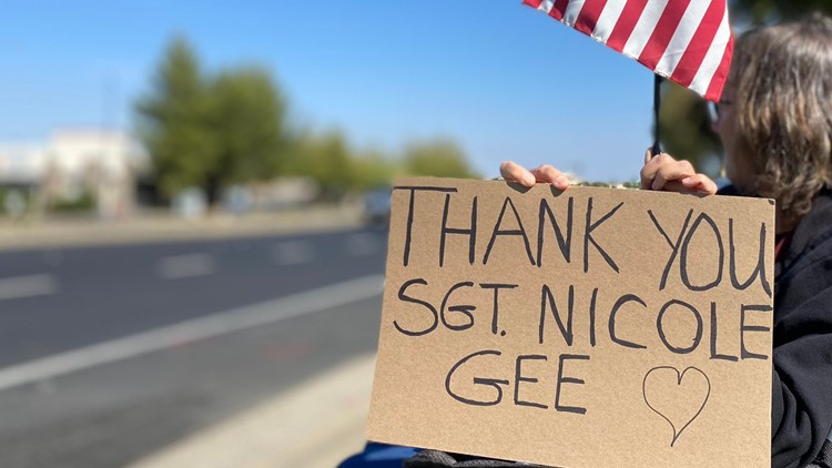 How Roseville paid tribute to slain USMC Sgt. Nicole Gee
