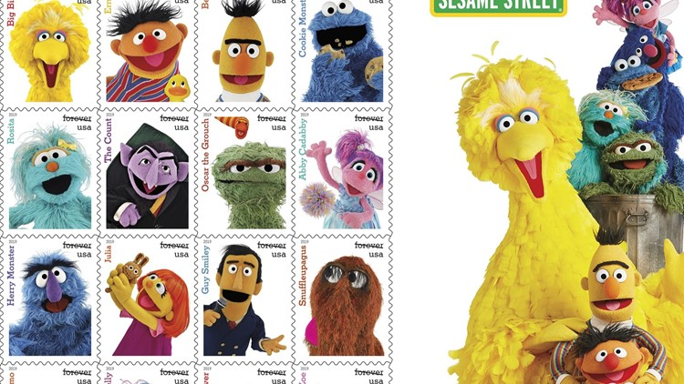 Iconic Sesame Street characters becoming Forever stamps