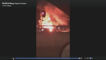 Crews battle fire at boathouse in Lodi
