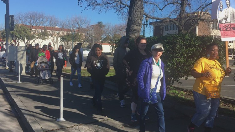 150 gather for Stockton MLK March
