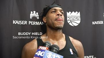 Sacramento Kings guard Buddy Hield preparing to face Portland Trail Blazers