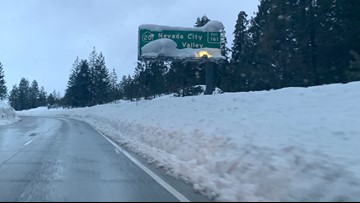 CHP officers show the dangers of driving on snow-covered I-80