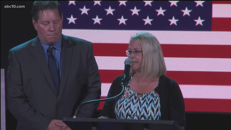 Rick Herrera, Sgt. Nicole Gee's father, shares memories of her at memorial service