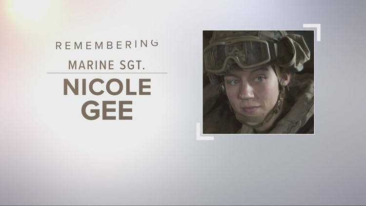 Community honors, says goodbye to USMC Sgt. Nicole Gee