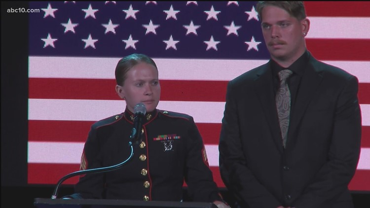 Mallory Harrison pays tribute to her best friend, Sgt. Nicole Gee