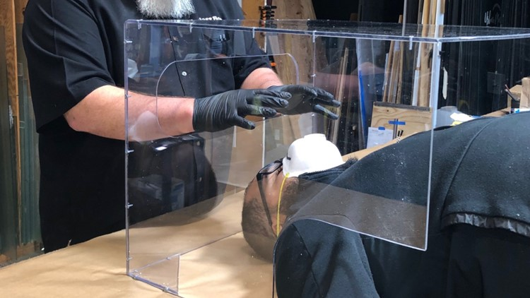 Turlock glass company reinvents itself to make protective boxes for local hospital
