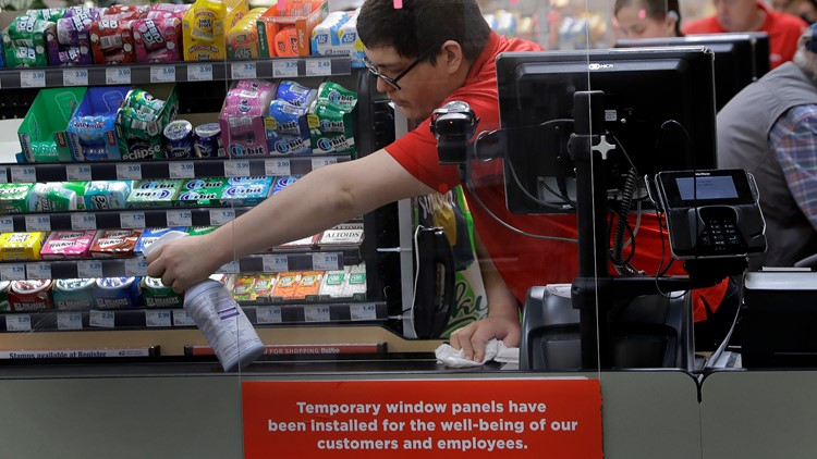 Grocery stores adding plexiglass to protect from the spread of coronavirus