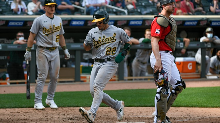 Wild pitch in the 9th lifts Athletics past Twins 7-6