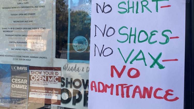 Growing number of Sacramento businesses requiring proof of vaccination