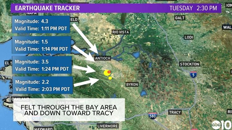 4.3 magnitude earthquake rattles San Francisco Bay Area