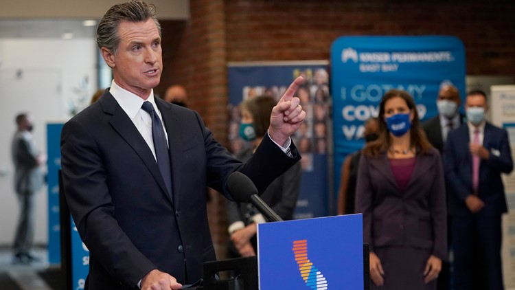 Newsom casts political blame in new California vaccine push
