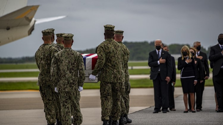 Memorial and procession for fallen Marine Sgt. Nicole Gee | Need to Know