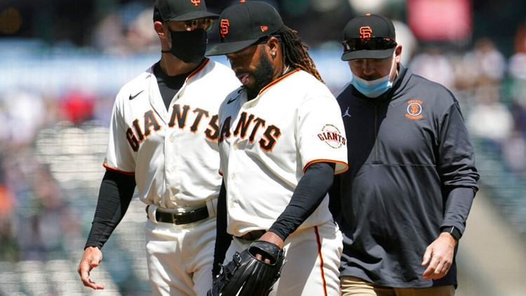 Giants' Cueto goes on 10-day injured list with lat strain