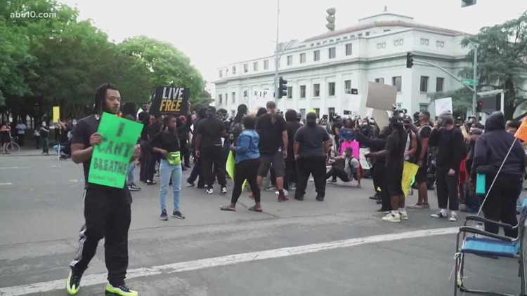 Hundreds gather in downtown Stockton as law enforcement ready themselves for unrest