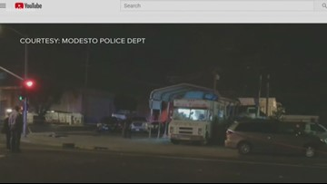 Modesto police chase ends with 2 killed at taco truck