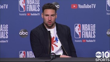 Klay Thompson on Warriors Game 5 win, injury to Kevin Durant | 2019 NBA Finals