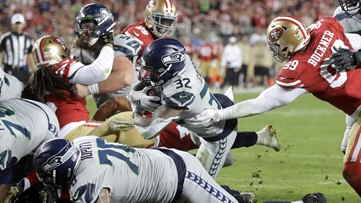 Seahawks knock 49ers from unbeaten ranks with 27-24 OT win