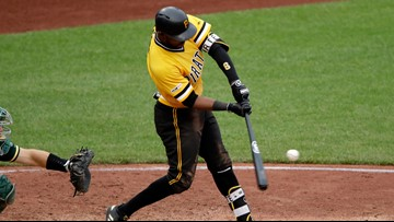 Marte hits 3-run homer in 13th, Pirates rally past A's 5-3