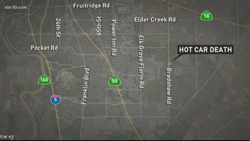 2-year-old dies after getting stuck inside hot car in South Sacramento