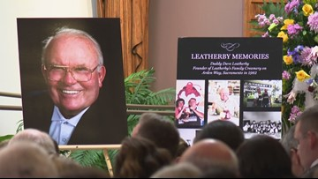 Scores attend funeral for Dave Leatherby, founder of Leatherby's Family Creamery