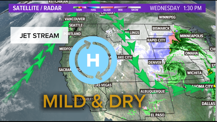 Mild and Dry Weather Pattern