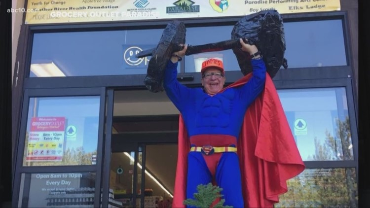 Paradise 'superhero' attempts to save friend using a trash can