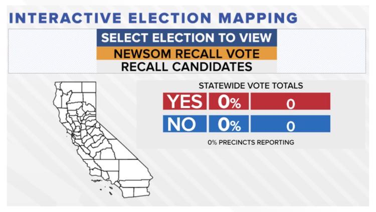 Newsom Recall Election Results | Interactive map