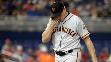Giants trade reliever Melancon to Braves for 2 pitchers