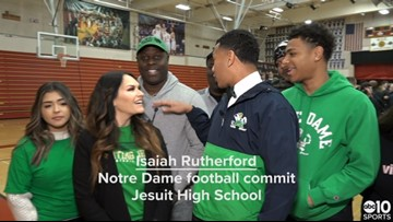 National Signing Day: Notre Dame commit and Jesuit High School star Isaiah Rutherford