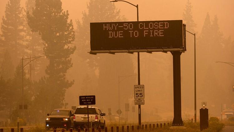 Highway 50 reopens to Caldor Fire evacuees