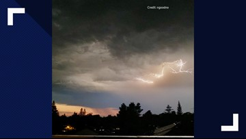Showers and thunderstorm risk continues in the Sierra
