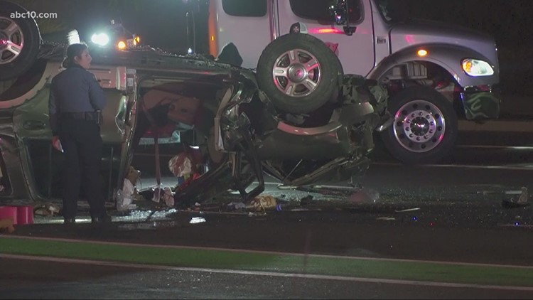 3 people taken to hospital after car overturns in Elk Grove, fire officials say