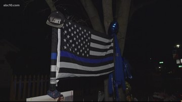 Memorials continue to grow in Davis for Officer Natalie Corona