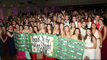 Paradise Prom goers surprised with video message of support from more than 30 celebrities