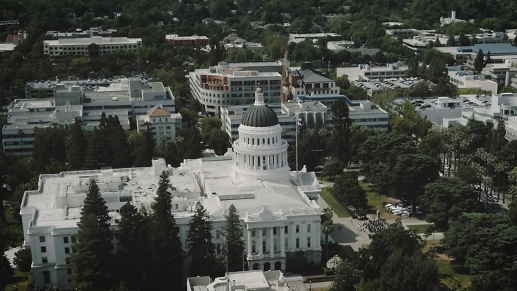 State Capital drone shot for Lilia's piece