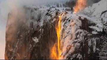 """Yosemite's annual """"firefall"""" returns this week, but may be tough to see this year"""
