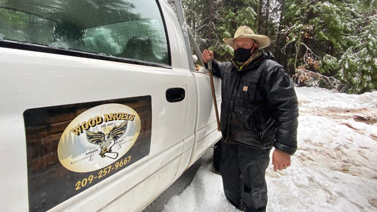 The Wood Angels deliver firewood during a winter storm | NorCal Strong