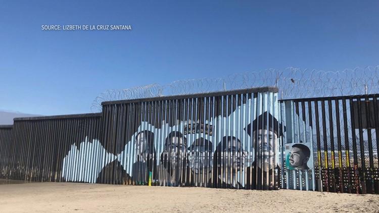 UC Davis student unveils border wall mural