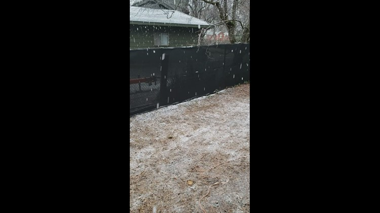 Snowing in Foresthill in town