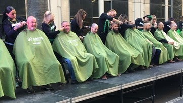 How going bald could help fight childhood cancer