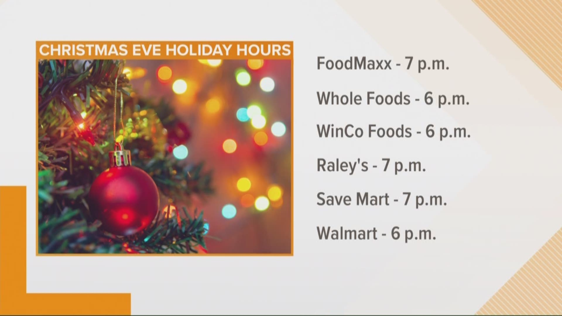 Holiday hours for grocery stores