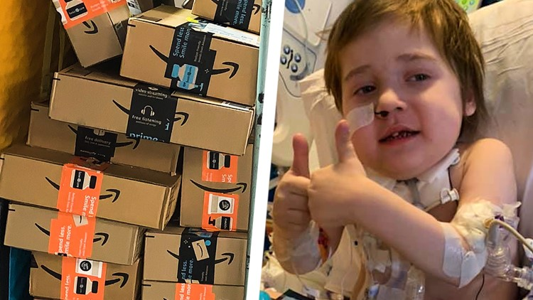 'I don't know if it's going to stop' | Viewers send hundreds of packages of stickers, cards to hospitalized 5-year-old