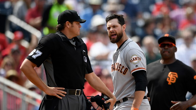 Tempers flare as Giants drop series to Nationals