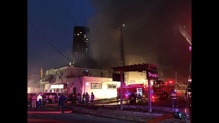 Girls jump to flee fire at New Jersey dance studio