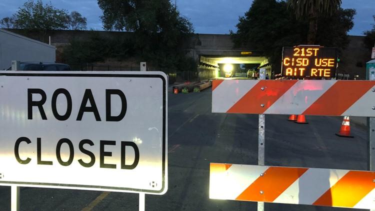 Highway 99 Shutdown:  Live Sacramento traffic map