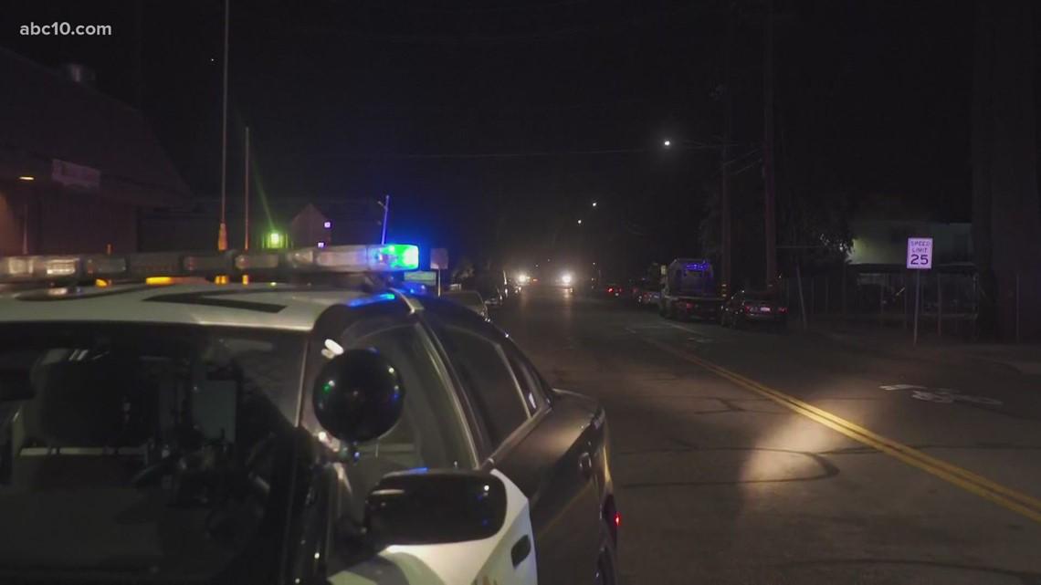CHP vehicle shot at late Sunday night