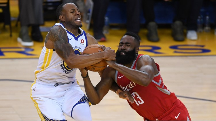 Iguodala has a sore left knee and there's a chance his status could be upgraded later Monday, the team said.