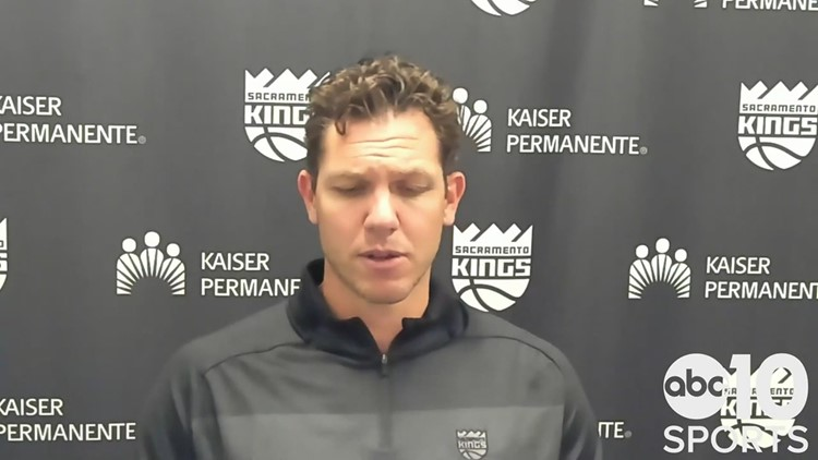 Kings coach Luke Walton on 4-0 road trip following Sacramento's win over the Indiana Pacers