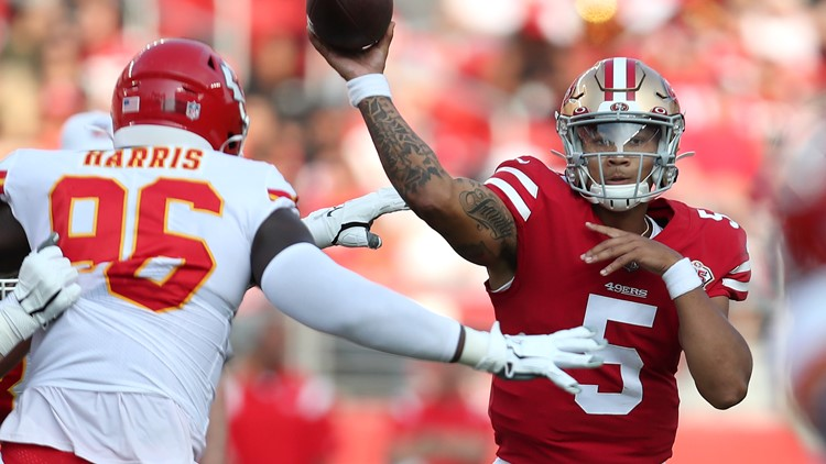 Trey Lance makes intriguing debut at QB for 49ers