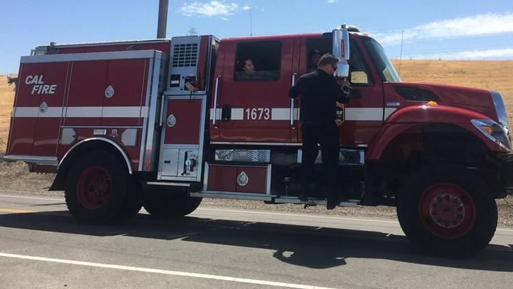 Crews battle 7 grass fires in Byron   abc10 com